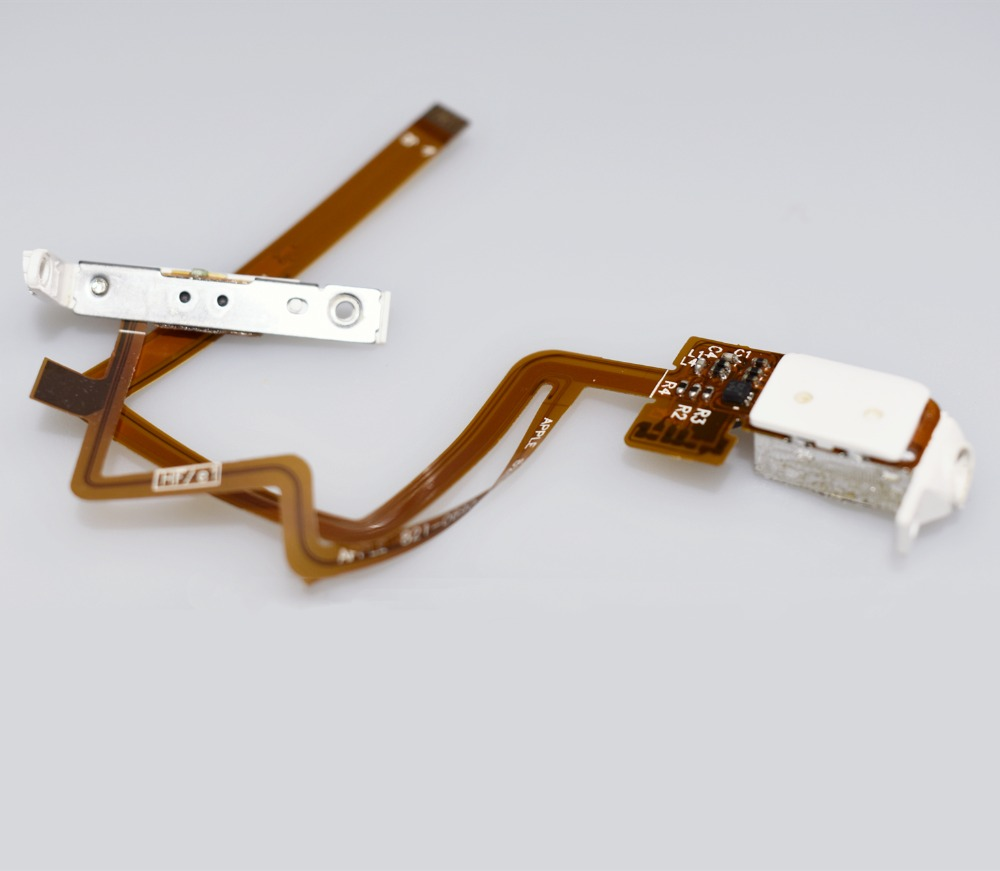 Thin Headphone Audio Jack Hold Switch Flex Ribbon Cable For Ipod Classic And Video 5th 6th Free Wholesale Ipod Classic Jack