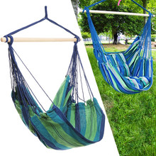 Outdoor Hammock Hanging Chair Air Swing Chair Garden Solid Wood Hammock Chair (Green)(China)