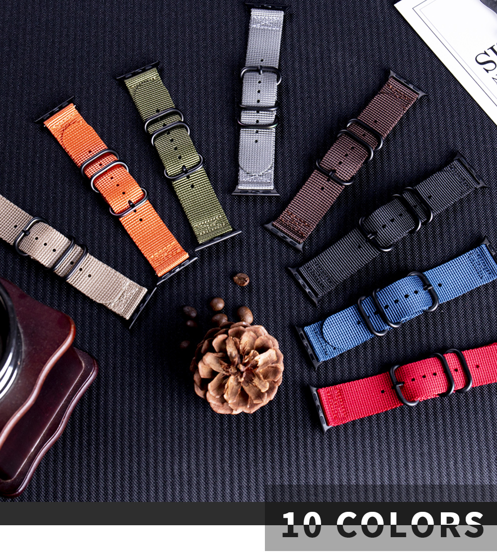Nylon Fabric Band for Apple Watch 11