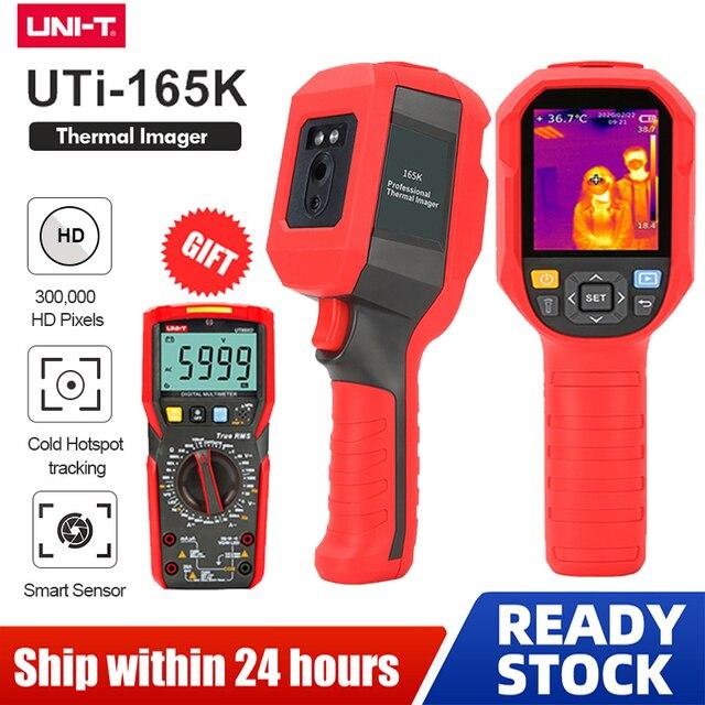 UNI T UTi165K HD الأشعة تحت الحمراء كاميرا تصوير الحرارية الطابق التدفئة الكاشف نطاق درجة الحرارة 10 درجة مئوية ~ 400 درجة مئوية 2.8 بوصة شاشة TFT