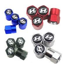 4 pçs tampa da válvula de pneu carro adesivo tampão do pneu poeira para hyundai i30 tucson acento hyundai i20 ix35 acessórios do carro