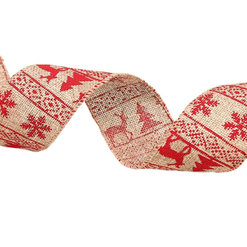 2020 New Xmas Ribbon Letters Printing Christmas Tree Ornament Ribbons Holiday Party Decor