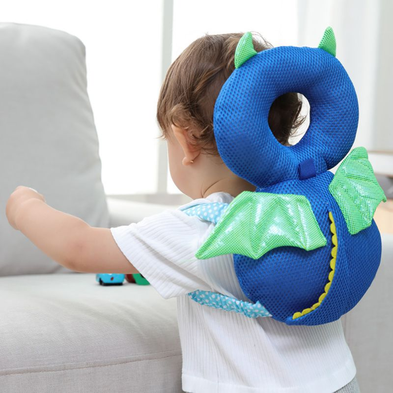 Baby Head Protection Safety Pad Animal Toddler Headrest Pillow Baby Neck Cute Wings Nursing Drop Resistance Cushion Baby Protect