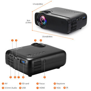 Image 3 - ThundeaL nativa de 720P Mini Proyector Bluetooth Android 6,0 Proyector wi fi TD30 Max LED HD Video HDMI VGA película WiFi 3D Proyector