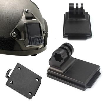 Aluminum Helmet Fixed Mount NVG Base Holder Adapter for GOPRO Hero 7 4 5 6 Session yi Sjcam EKEN Action Video Sports Cameras 1