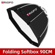 Triopo K90 90cm Foto Bowens Montieren Tragbare Octagon Dach Im Freien SoftBox mit Trage Tasche für Studio Flash Softbox