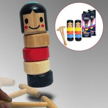 2020 Immortal Daruma Small Wooden Man Halloween Funny Wooden Magic Toy