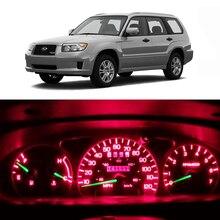 WLJH 20x яркий тире светильник s приборная панель Калибровочная лампа светодиодный светильник комплект подходит для Subaru Forester 2003 2004 2005 2006 2007 2008