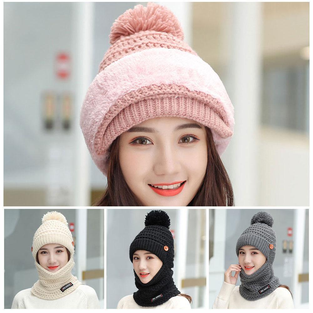Winter Hat And Scarf Set Real Raccoon Fur Pompom Hat Fleece Liner Pom Pom Beanie Baby Girls Boys Cap