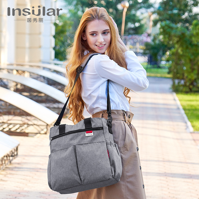 Insular Multi-functional Large-Volume Diaper Bag Set Waterproof Hand Mommy Bag Mom And Baby Diaper Bag WOMEN'S Bag Cross Border