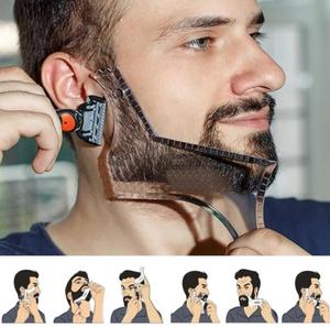 Image 4 - 2019 男性のひげテンプレートstylingtool両面ひげ整形コーム美容ツールシェービング脱毛カミソリツール男性のための