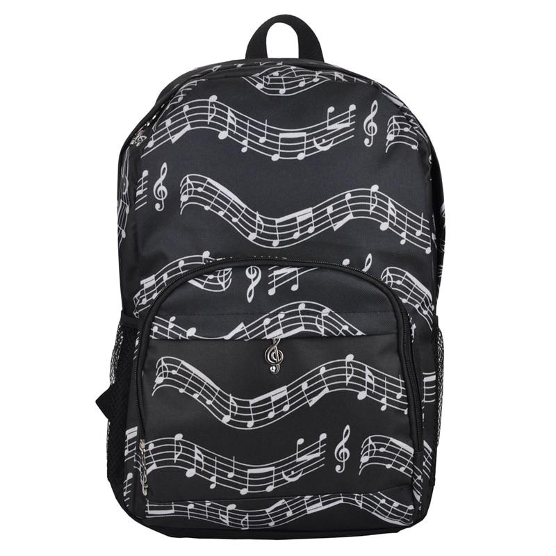 Musical Backpack Backpack Musical Notes Oxford Cloth Bag Art Department Storage Backpack