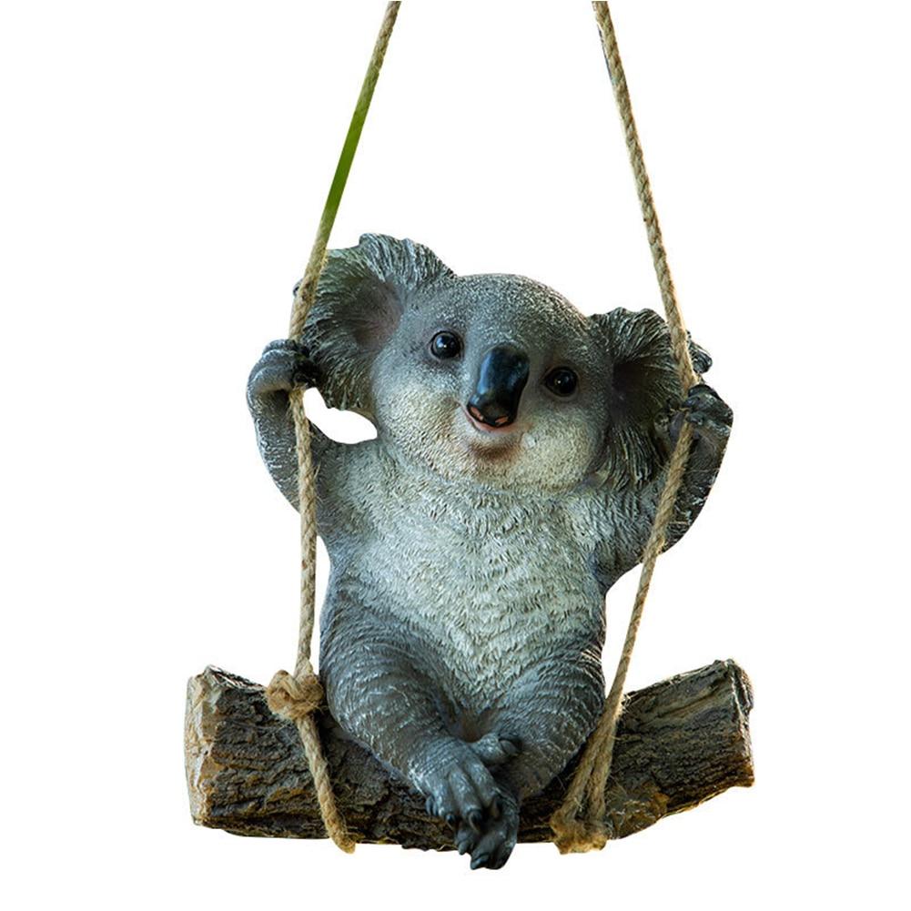Landscape Sculpture Home Accessories Cartoon Resin Statue DIY Animals Garden Yard Decoration Simulation Koala Ornament Crafts