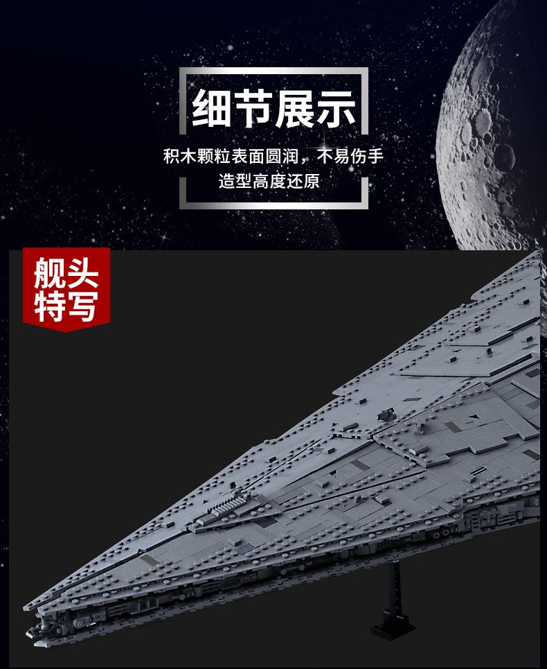 05027 Star Toys Wars The MOC-23556 Imperial Star Destroyer Compatible With Legoing 75252 Kids Christmas Gifts Building Blocks 17