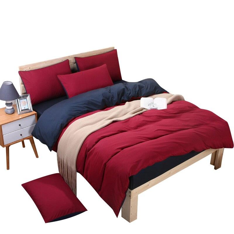 Bedding Set Soft Pillowcase Full Twin King Queen Striped Quilt Duvet Sheet Cover