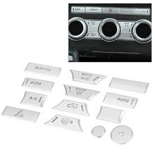 13pcs Car Air Conditioner Button Patch Trim Fit for Land Rover Range Rover Sport 2014 2015 2016 2017
