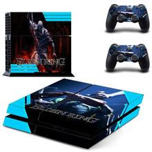 Game Elden Ring PS4 Skin Sticker Decal For DualShock PlayStation 4 Console and 2 Controllers PS4 Skin Sticker Vinyl