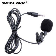 VOXLINK Microphone Universal Portable 3.5mm Mini Mic  Hands Free Clip on Microphone Mini Audio Mic For PC Laptop Lound Speaker