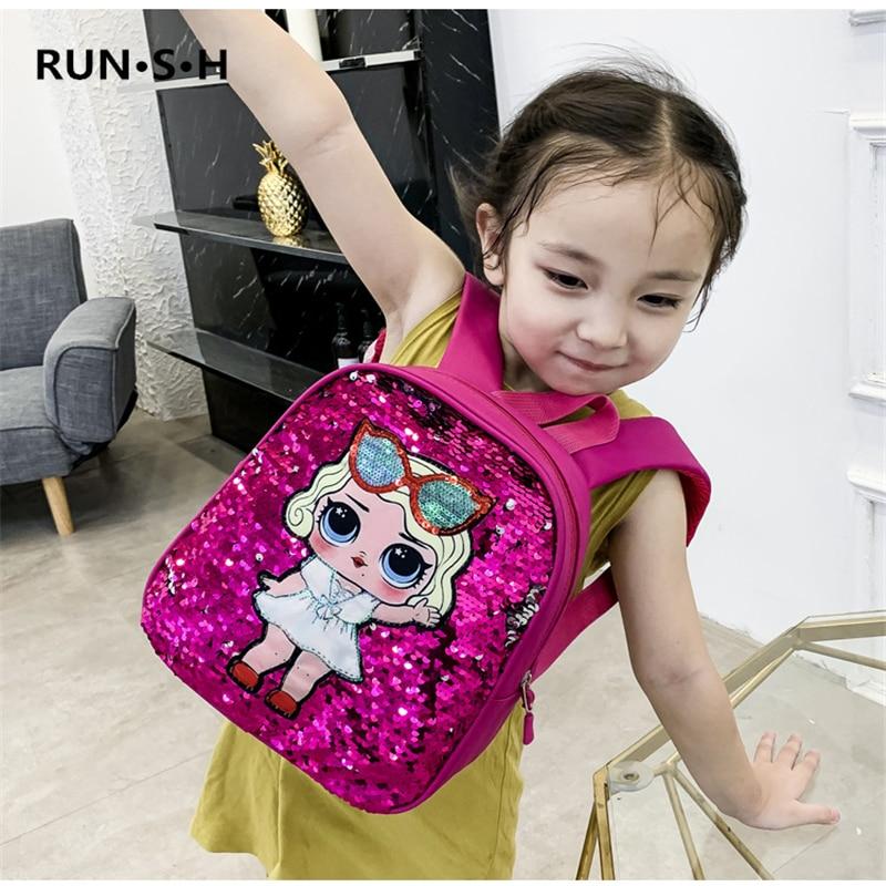 Sequin Mochilas LOL Kids Backpack Stationery Storage Supplies High Quality Children School Bags Supplies And Stationery Storage