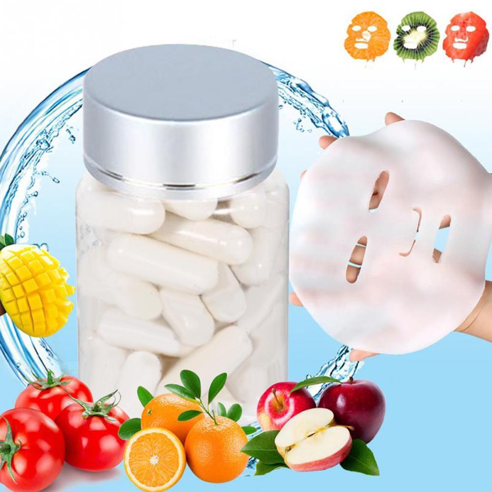 50pcs Collagen Powder Capsules Protein Bioactive Peptides Crystal Face Mask Rejuvenation Shrink Pore Whitening Cream Skin Care 4