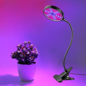 Lampa ledowa do hodowli roślin Full Spectrum Fitolampy USB ściemnianie roślin oświetlenie do uprawy klip lampa fito Timer do sadzenia kwiatów w pomieszczeniach tanie i dobre opinie EeeToo 28cm ABS+Aluminum Aluminium Rosną światła Dimmable Plant Grow Light 1 Year LED Grow Lamp Full Spectrum 1227 9 75cm