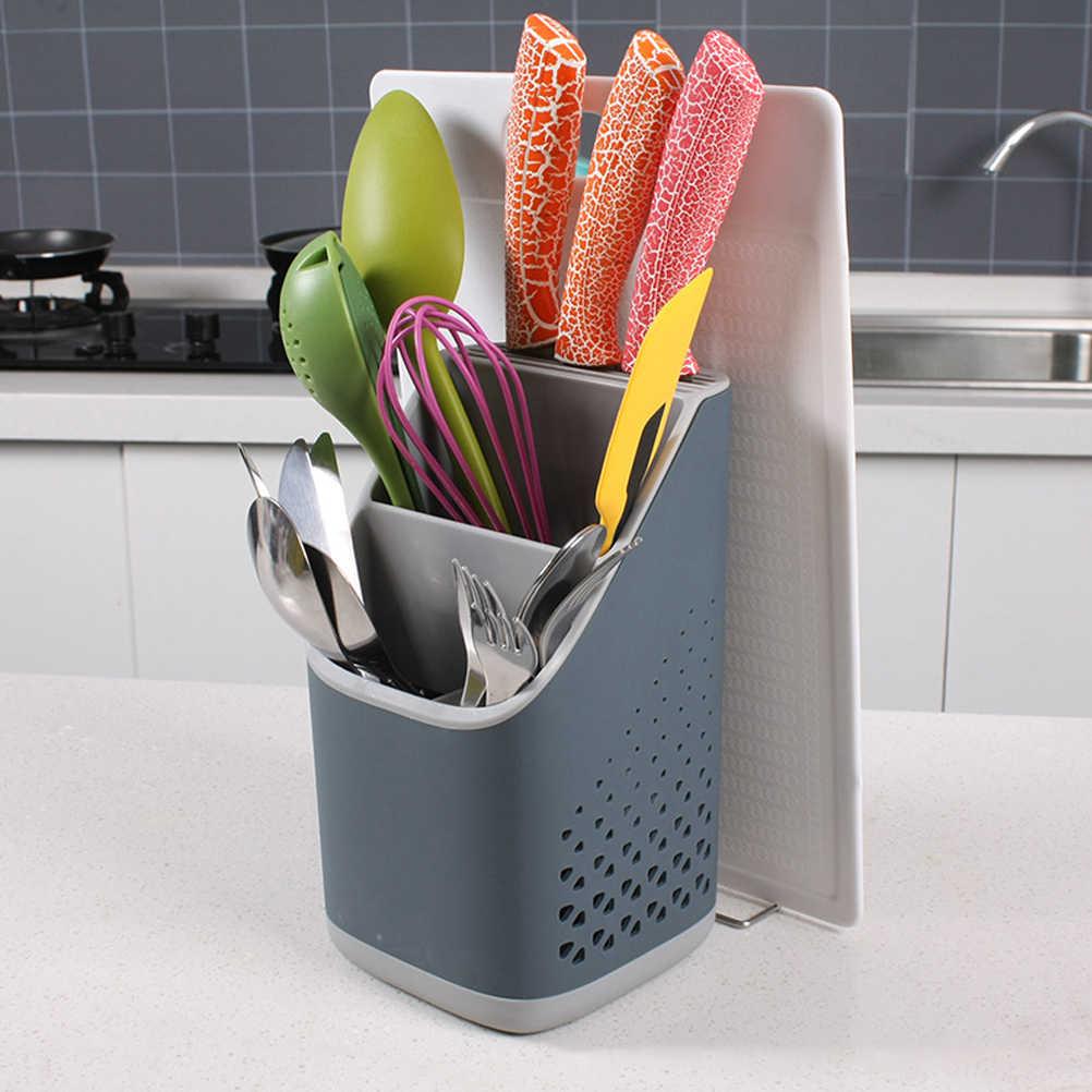 Kitchen Steel Storage Box Strainer Chopsticks Spoon Fork Rack Cutlery Holder