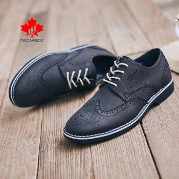 Zapatos Brogue clásicos para hombre, calzado de oficina de diseño de negocios a la moda para hombre, calzado informal cómodo de lujo con cordones para caminar
