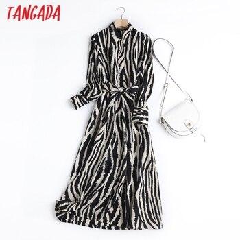 Tangada-vestido Midi de fiesta Vintage para mujer, estilo inglés, sencillo, patrón de...
