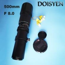 Telephoto Lens F8.0 500mm Manual Zoom with T-Mount Telephoto Lens for Nikon Canon T4i T3i T3 T2i XTi XSi XS 7D 60Da DSLR Camera цена и фото