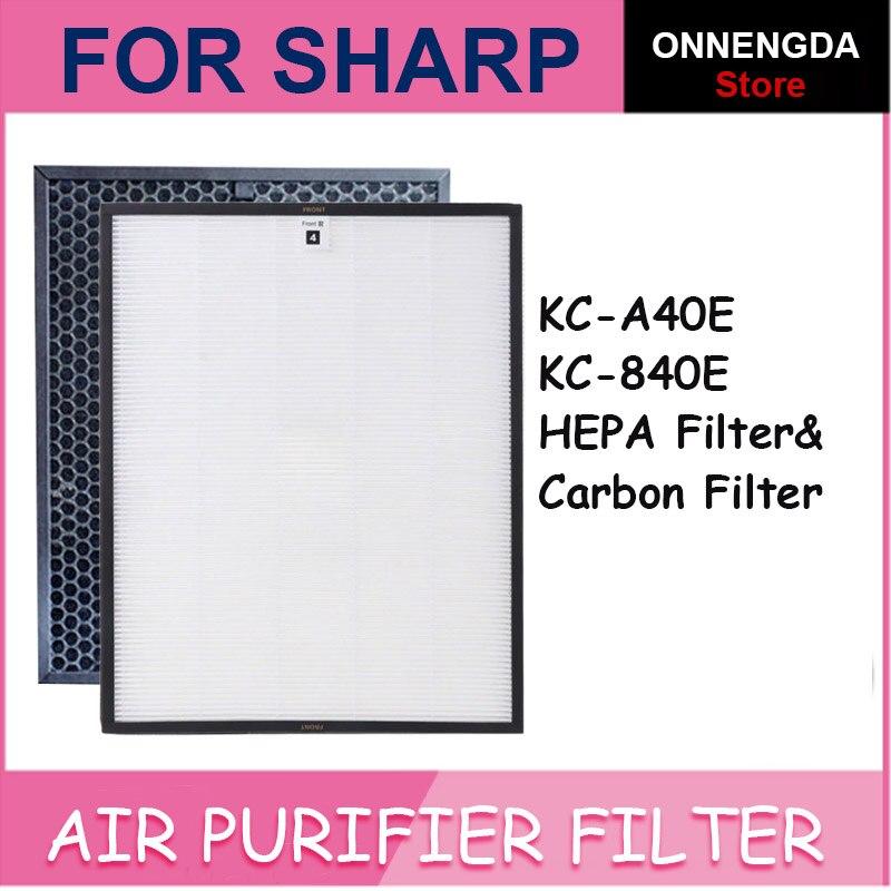 Замена 2 шт. FZ-A40HFE & FZ-A40DFE FZ-C70HFE HEPA фильтр для Sharp очистители воздуха KC-A40E KC-840E KC-A40TA KC-A840TA KC-C70TA