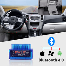 New OBD V2.1 mini ELM327 OBD2 Bluetooth Auto Scanner OBDII 2 Car ELM 327 Tester Diagnostic Tool for Android Windows FasLink X