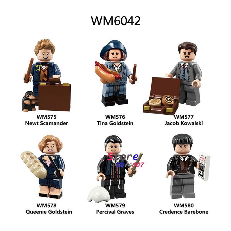 Single Building Blocks The Crimes Of Grindelwald Tina Dobby Toys For Children Action Figures