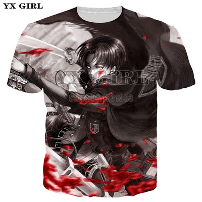 2020 Newest Summer Tees Men Women Loose T-shirt Cartoon Anime Attack on Titan 3D Print Casual T Shirt Funny Tops Clothing-a1
