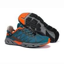 Açık ayakkabı erkekler kadınlar için nefes yürüyüş ayakkabıları kaymaz Trekking tırmanma spor ayakkabılar hızlı kuru giriş su ayakkabısı