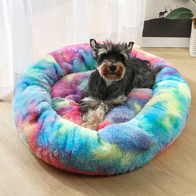Pet Dog Bed Mat Round Step-On Plush Mattress Warm Pet Bed  for Dogs Cats DC156