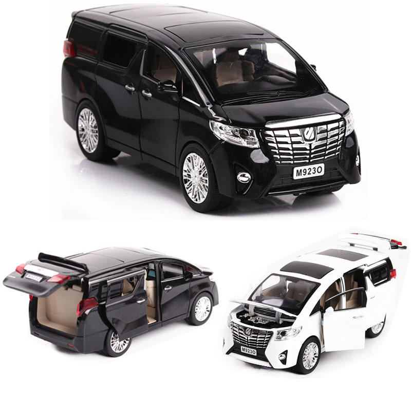 1:24 Toyota Alphard MPV Car Model Alloy Car Die Cast Toy Car Model Pull Back Children's Toy Collectibles Free Shipping