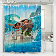 Moana Shower Curtain 3D Bath Curtains Waterproof Mildewproof Anime Sea Shower Curtain Bathroom Decor douchegordijn landschap unique mandala mildewproof shower curtain