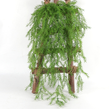 105CM Real Touch Artificial Wall Hanging Plant Pine Needles Home Decoration Balcony Decorattion Flower Basket