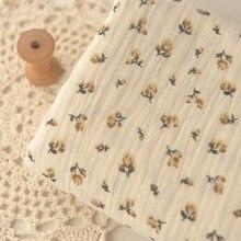 Tissu Double coton à fleurs jaunes pastorale 50x140cm, manteau, Robe, jupe, vêtements, serviette de canapé