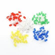 100 stücke 5mm LED diode Licht Assorted Kit DIY LEDs Set Weiß Gelb Rot Grün Blau elektronische diy kit