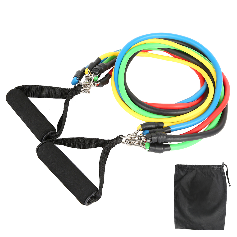 11//12pcs Fitness Pull Rope Resistance Bands Latex Strength Gym Equipment Home Elastic Exercises Body Fitness Workout Equipment