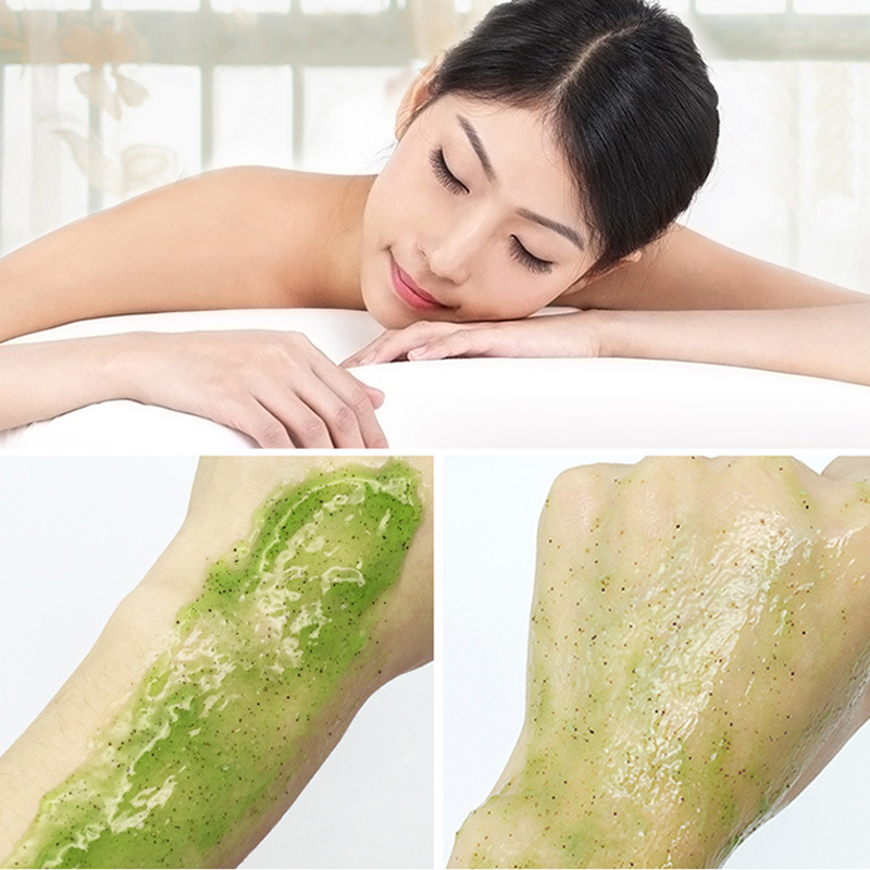 Cucumber Hydrating Body Scrub Exfoliating Dead Skin Removal Deep Cleaning Moisturizing MH88 5