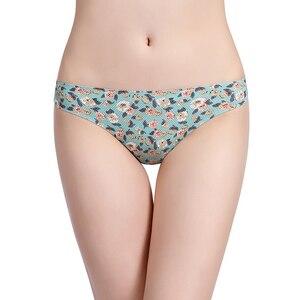 Image 3 - Culotte à imprimé maille, sous vêtement pour femme, culotte sans couture respirante, Lingerie Sexy, Tangas, 12 couleurs, Style XS L taille américaine