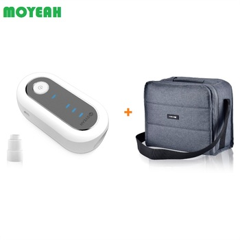 MOYEAH Ozone Auto CPAP Disinfector With Steriliztion Bag Heated Hose Adapter Mini CPAP Cleaner Sanitizer For Cleaning Tube Mask