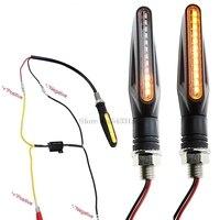 100% decoder LED sinais de Volta Da Motocicleta Para Yamaha Xvs 1300 Ktm 990 Yamaha R6 Acessórios Yamaha T tampa da Água Que Flui