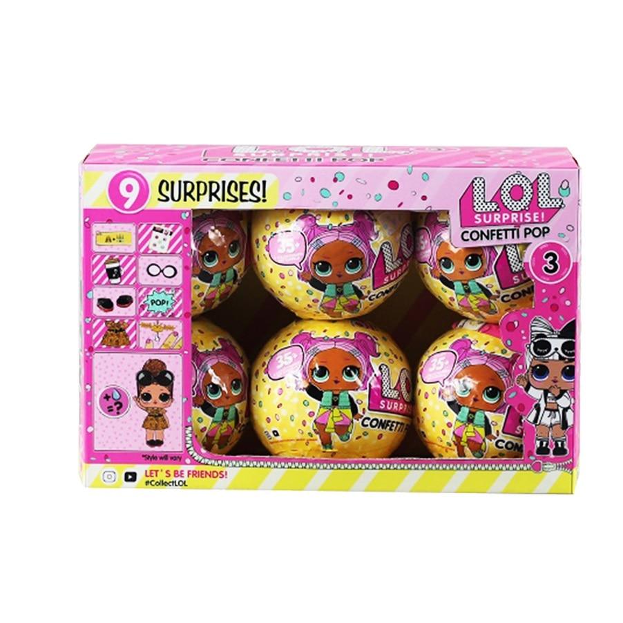 Surprise Dolls Color Change Egg Confetti Pop Series Dress Lol Doll