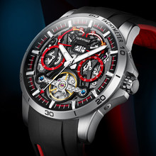 Luxury Sports Watch Men Automatic Mechanical Wristwatch Man 44mm Stainless Steel Sapphire Luminous Clock Relojes Para Hombre New