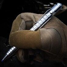 EDC ไทเทเนียมอัลลอยด์ Survival ความปลอดภัยยุทธวิธีปากกาดินสอการเขียน Multi functional เหล็กทังสเตน EDC เครื่องมือ