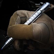 EDC тактическая ручка для самозащиты из титанового сплава для выживания, карандаш с надписью, многофункциональные инструменты для EDC из вольфрамовой стали