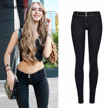 Dower Me Women Jeans Low Waist Jeans Woman High Elastic Plus Size Stretch Jeans Female Washed Denim Skinny Pencil Pants KZ013 fashion s xxl autumn high waist jeans high elastic plus size women jeans woman femme washed casual skinny pencil denim pants